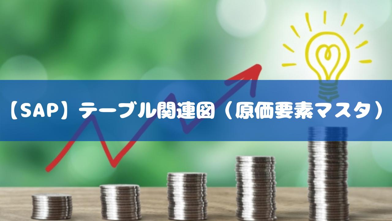 【SAP】テーブル関連図(原価要素マスタ)