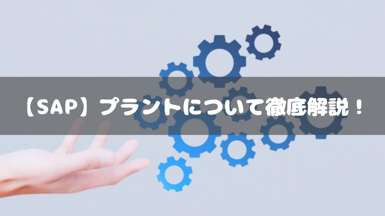 【SAP】プラントについて徹底解説!
