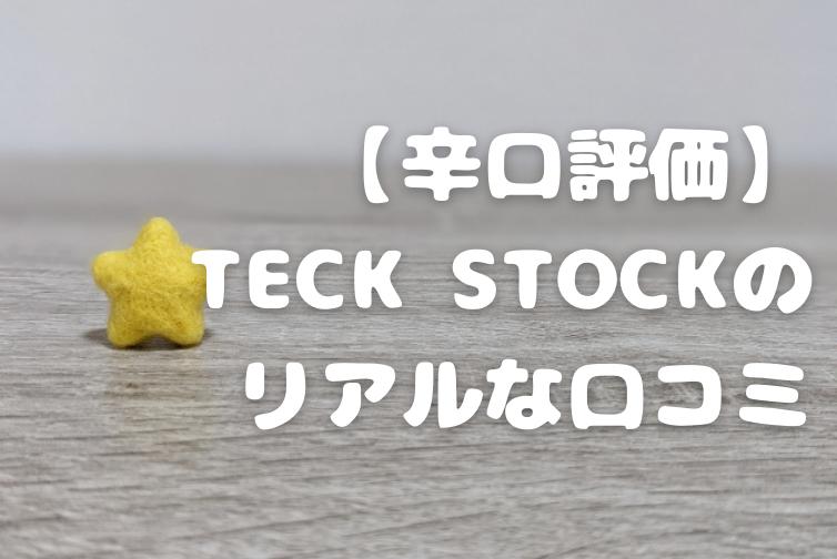 【辛口評価】TECK STOCK(INTLOOP)を使ってみたリアルな口コミ
